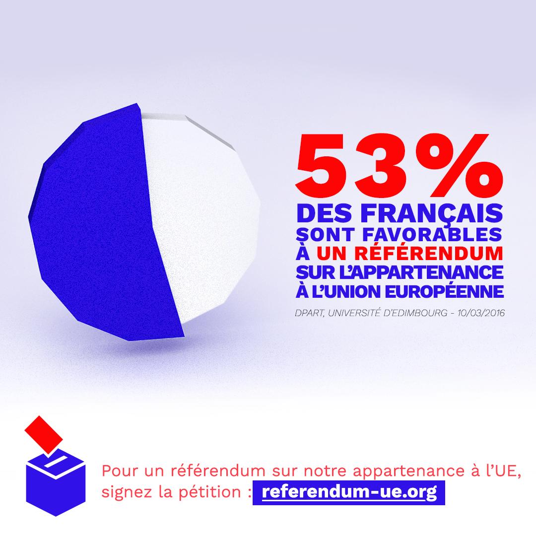 53% des français pour un referendum sur l'UE - insta